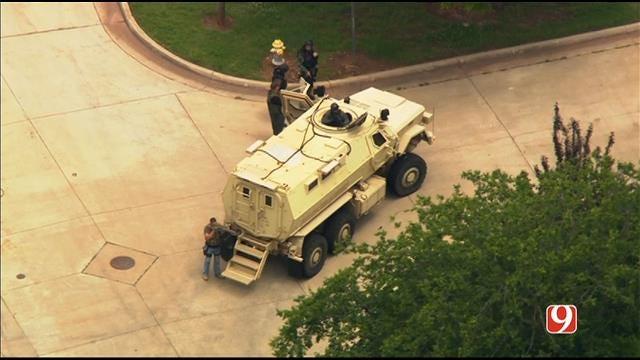 WEB EXTRA: Bob Mills SkyNews 9 Flies Over Shawnee Police Investigation