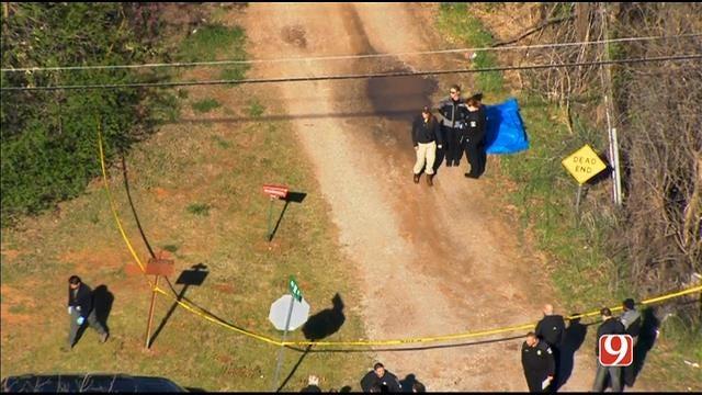 WEB EXTRA: Bob Mills SkyNews 9 HD Flies Over Scene Where Body Was Found