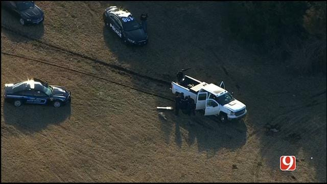WEB EXTRA: Bob Mills SkyNews 9 HD Flies Over Scene Of Chase That Ended In Crash