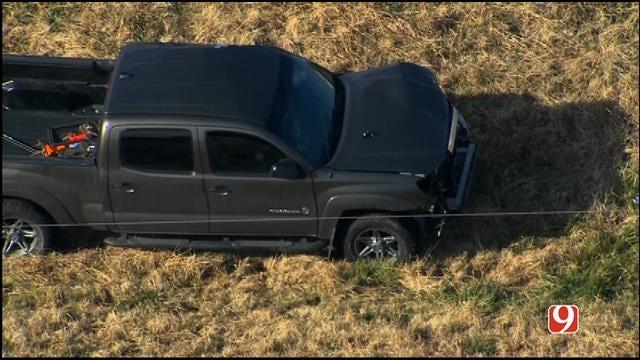 WEB EXTRA: Bob Mills SkyNews 9 HD Flies Over Moore Multi-Vehicle Crash