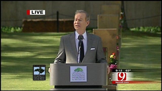 Remembrance Ceremony: OKC Mayor Mick Cornett Speaks
