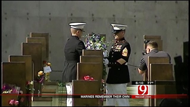 Marines Honor Fallen Brothers Killed During OKC Bombing