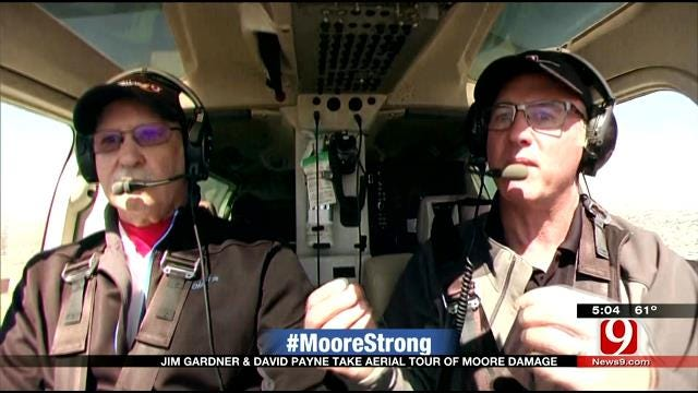 SkyNews9 & David Payne Survey Moore Tornado Damage