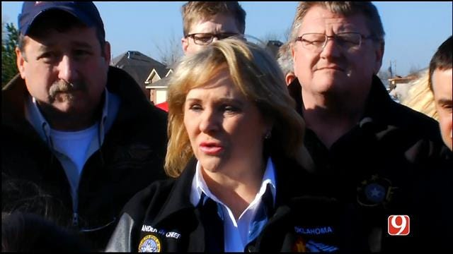 WEB EXTRA: Gov. Fallin Holds News Conference On Moore Storm Damage