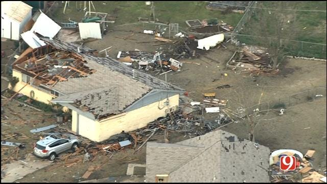 WEB EXTRA: Bob Mills SkyNews 9 HD Flies Over Storm Damage In Moore