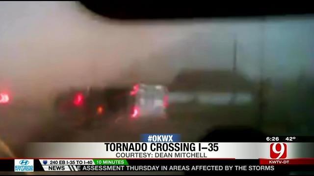 Video Captures Moment Tornado Crossed I-35