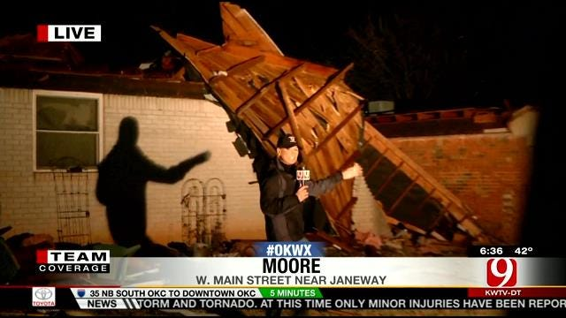Tammy Payne Reports On Tornado Damage In Moore