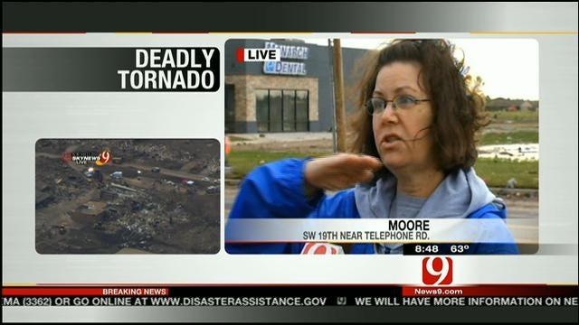 Woman Hops In Car To Escape Moore Tornado