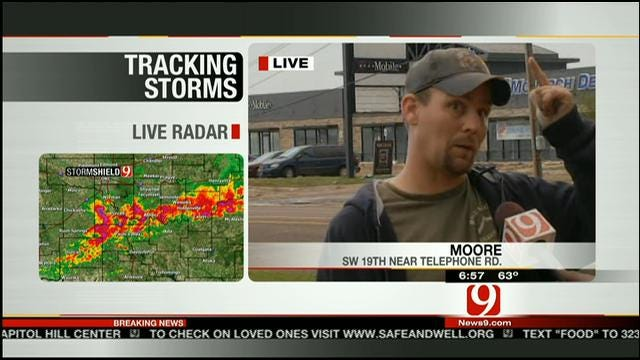 Resident In Destroyed Moore Neighborhood Talks About Destruction