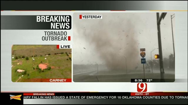 David Payne Talks About Chasing Edmond Tornado
