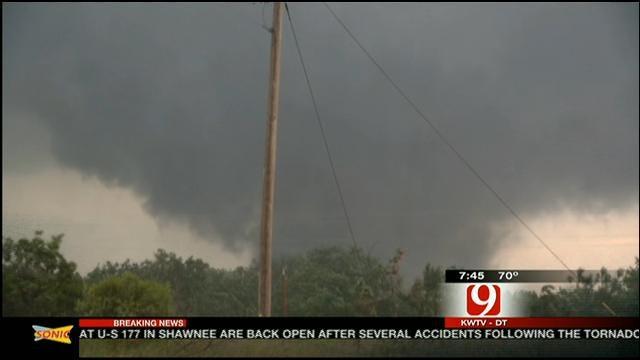 News 9 Storm Tracker Val Castor On Luther Tornado