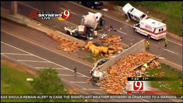 WEB EXTRA: Cars, Semis Blown Off The Road On I-40