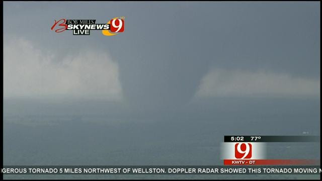 WEB EXTRA: Massive Tornado Rumbles Toward Carney