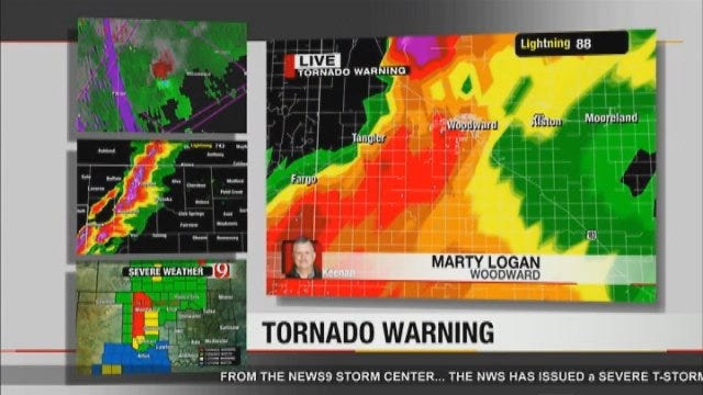 Marty Logan Sounds The Alarm As The Woodward Tornado Touches Down