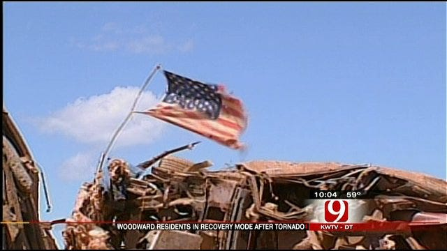 Woodward Residents Begin To Assess, Cleanup Tornado Damage