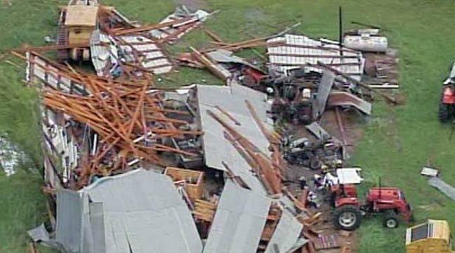 WEB EXTRA: SkyNews 6 Flies Over Tahlequah-Area Tornado Damage