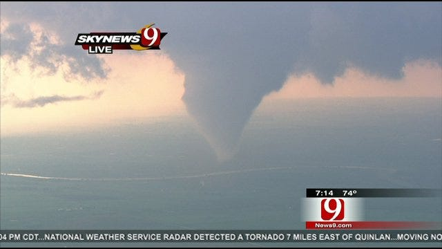 SkyNews 9 Captures Tornado Touching Down Near Waynoka