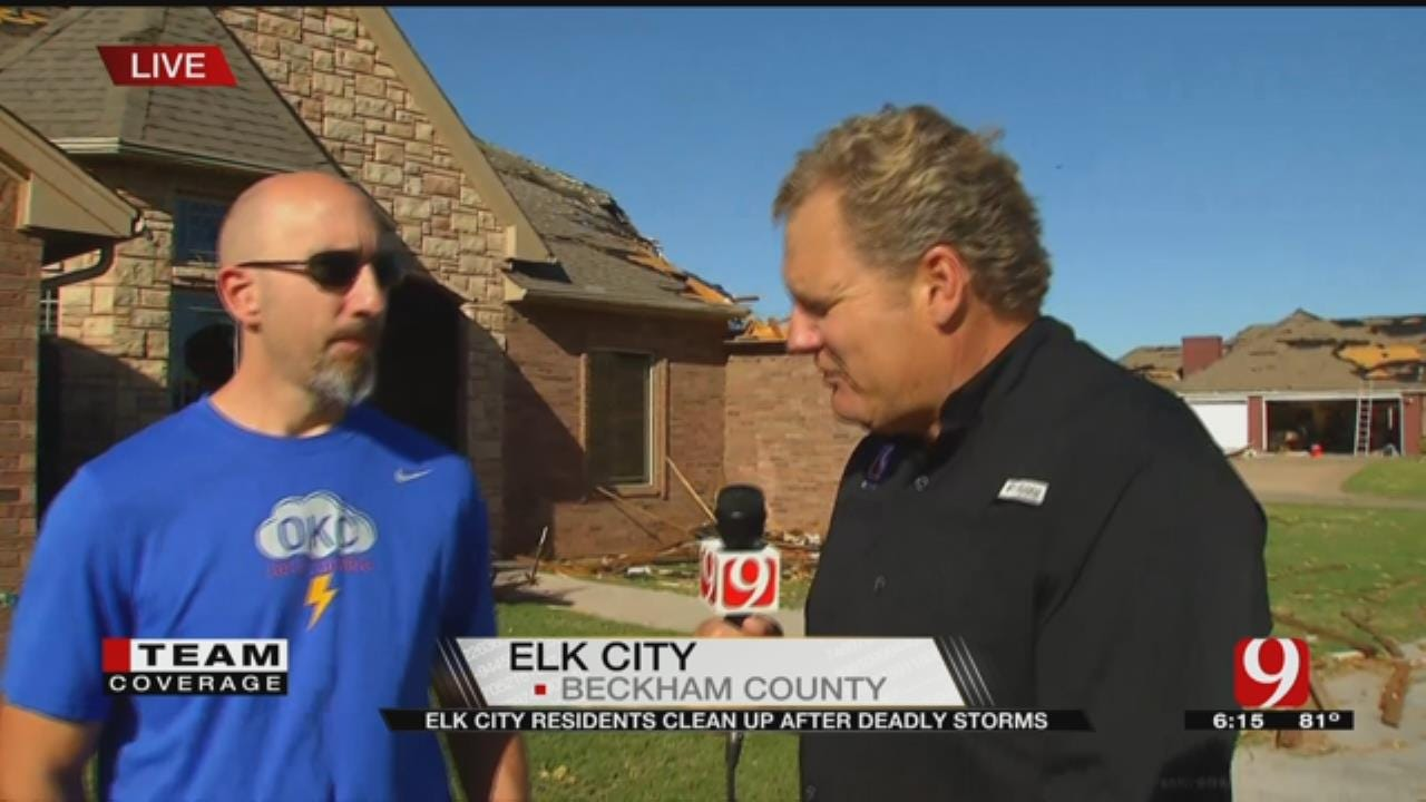 Elk City Residents Clean Up After Deadly Storm
