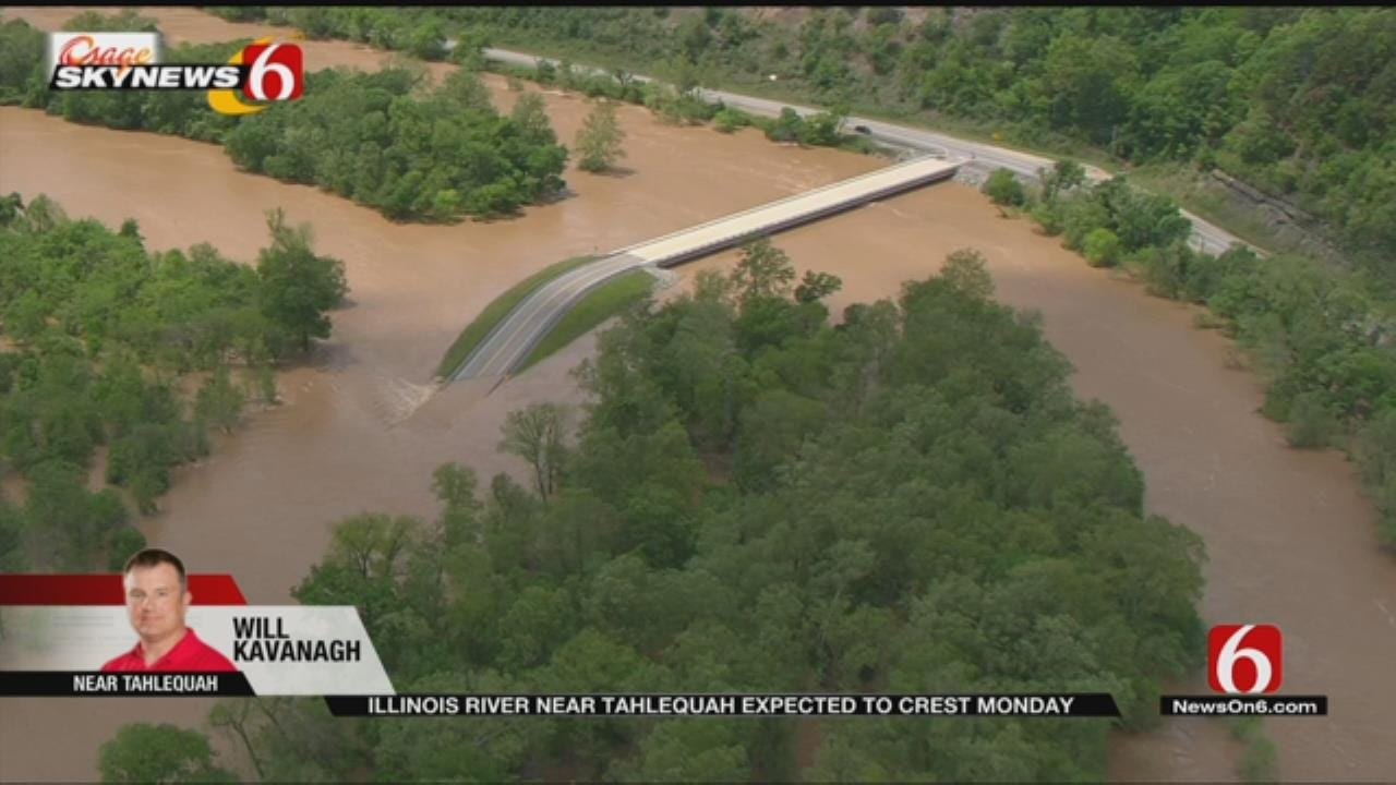 Osage SkyNews 6 HD Flies Over Swollen Illinois River