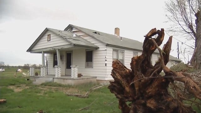 WEB EXTRA: House Near Afton Damaged During Thunderstorms