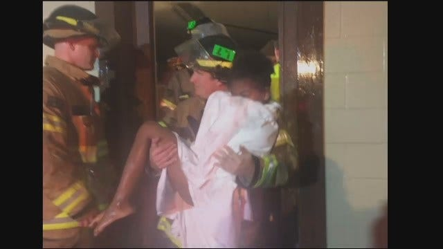 WEB EXTRA: Firefighters Rescue Kids From Sand Springs Gym