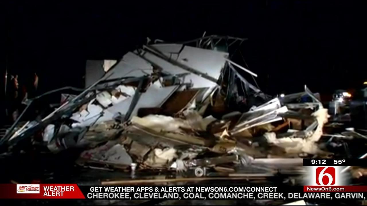 Donut Shop Destroyed During Sand Springs Tornado