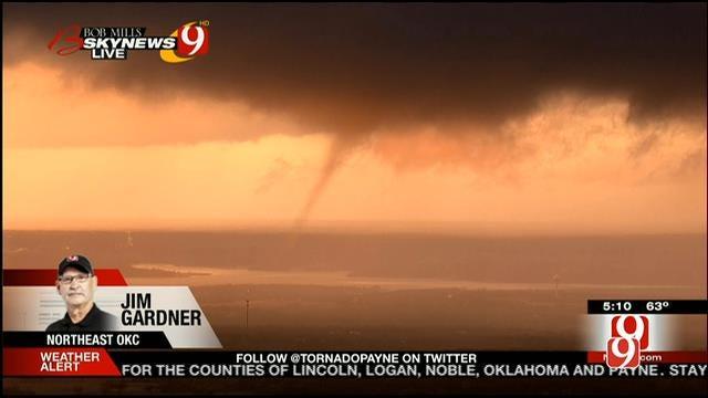 WEB EXTRA: Second Tornado Descends Near Arcadia Lake Live On News 9