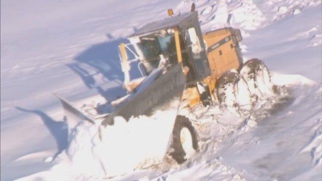 WEB EXTRA: Bob Mills SkyNews9 HD Flies Over Areas Hit Hardest By Winter Storm