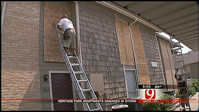 Northwest OKC Apartment Complex Hit Hard During Storms