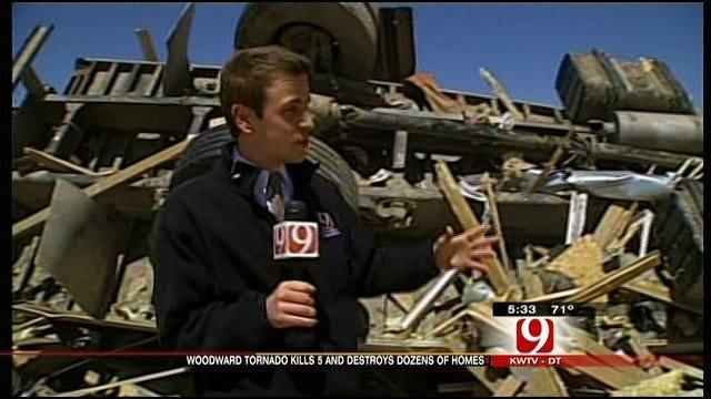 News 9's Michael Konopasek Tours Woodward Damage