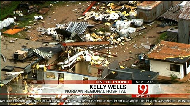 Aerial Views From SKYNews 9 Of Norman Storm Damage