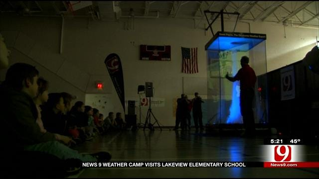 News 9 Weather Camp Visits Lakeview Elementary School