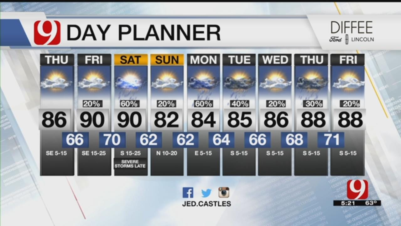 Thursday Bus Stop Forecast For May 17, 2018