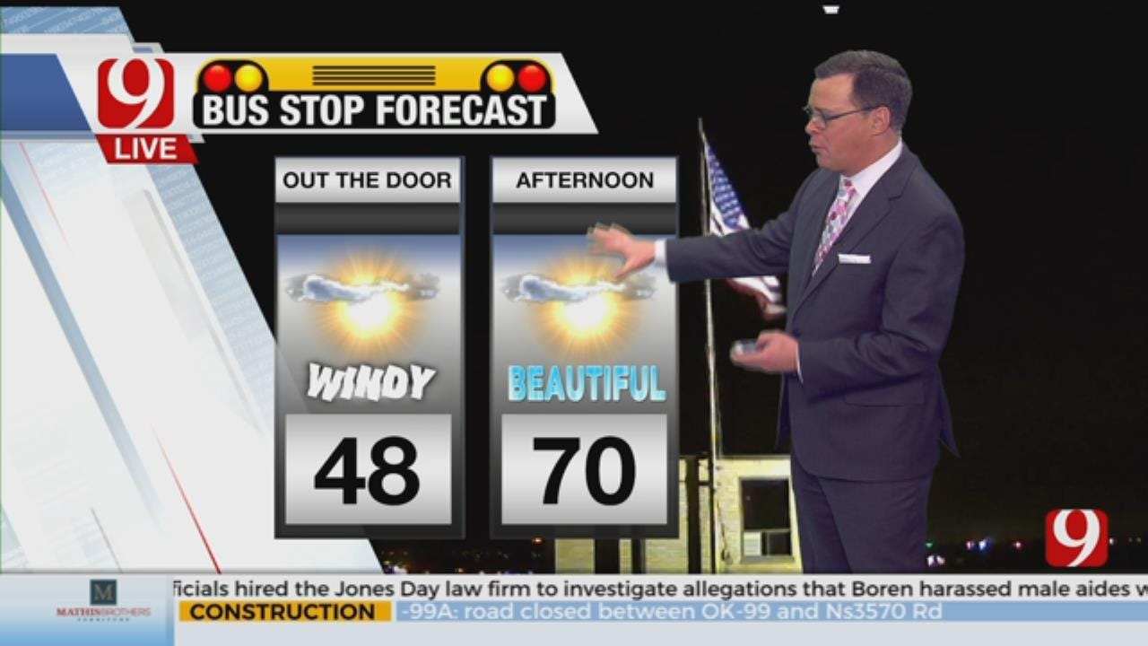 Jed's Thursday Bus Stop Forecast