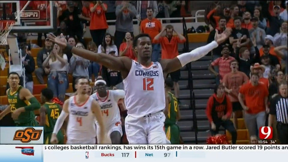 No. 2 Baylor Wins 15th In A Row, Tops Oklahoma State 75-68