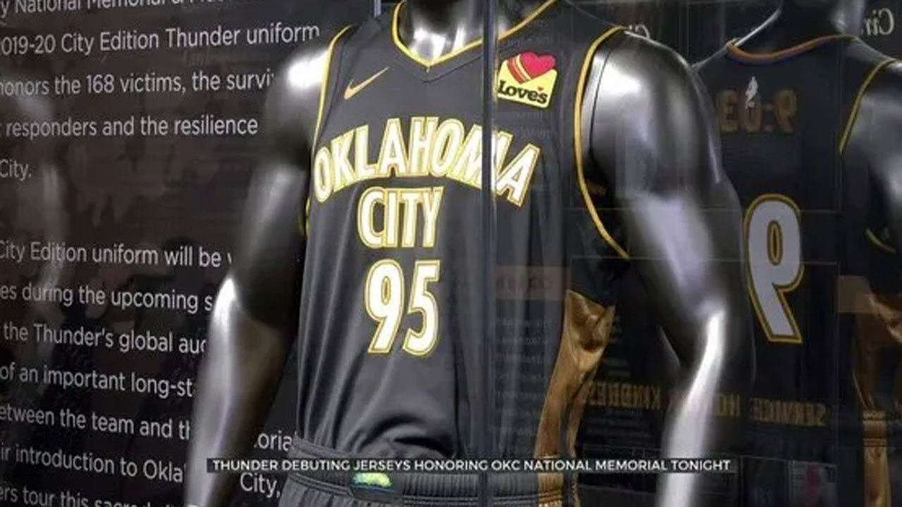 OKC Thunder To Debut Jerseys Honoring National Memorial And Museum Thursday