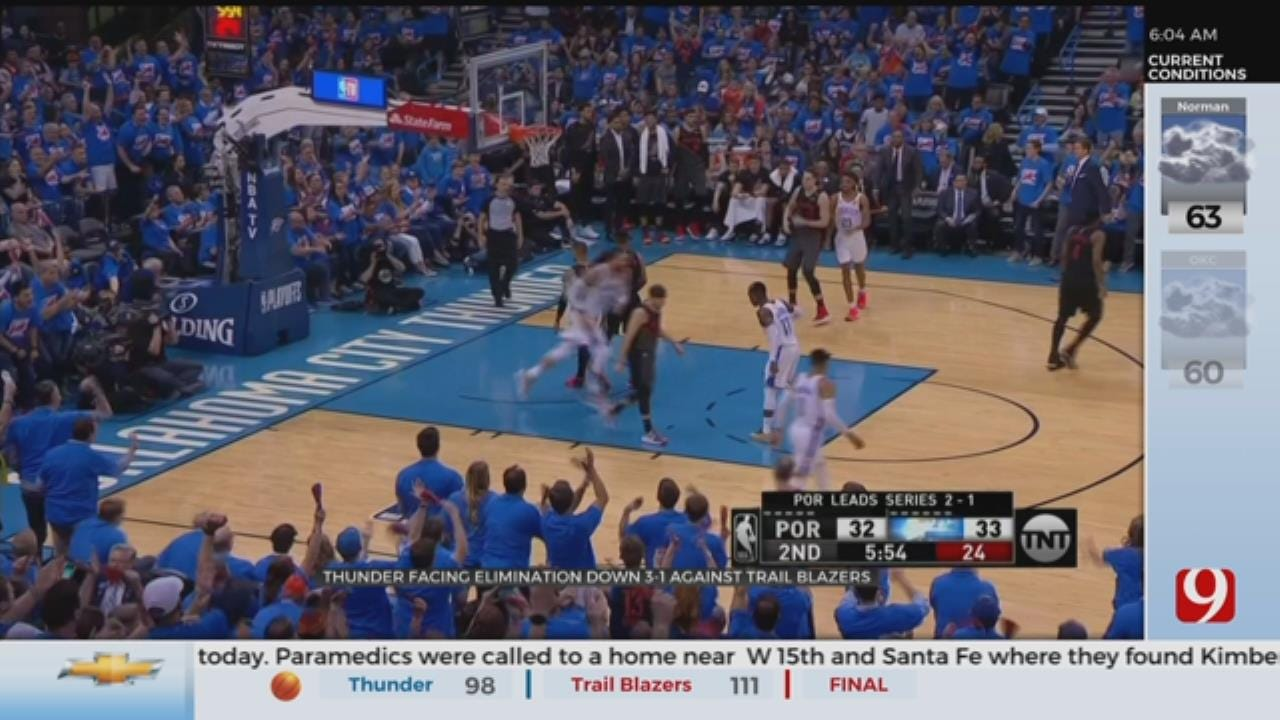 Thunder Facing Elimination Down 3-1 Against Trail Blazers