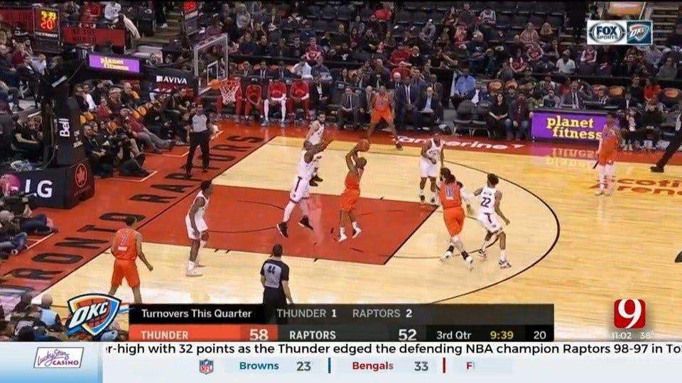 Thunder Wraps Up 2-Game Road Trip In Toronto