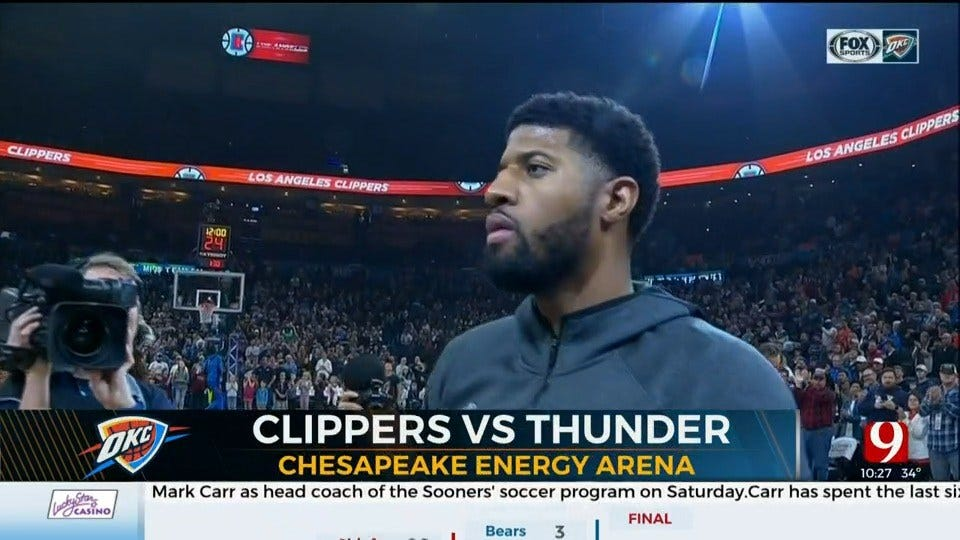 Thunder Hosts Clippers In Paul George's Return To OKC