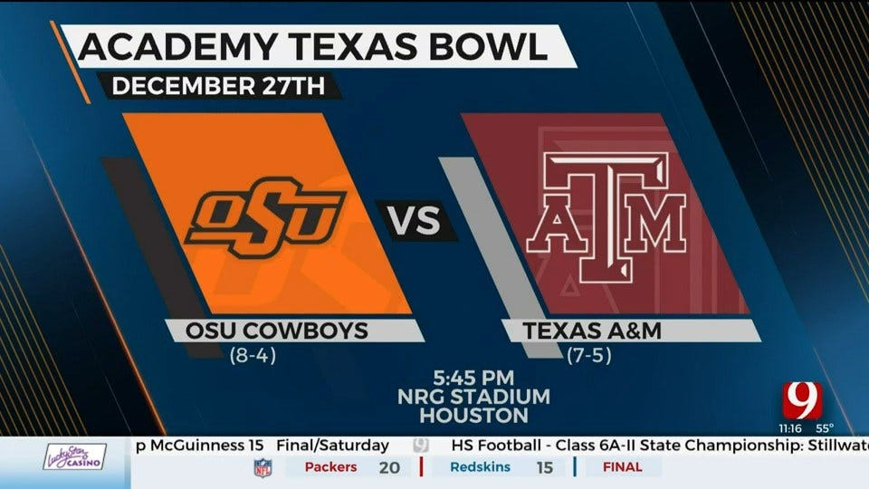 OSU's Bowl Matchup With Texas A&M