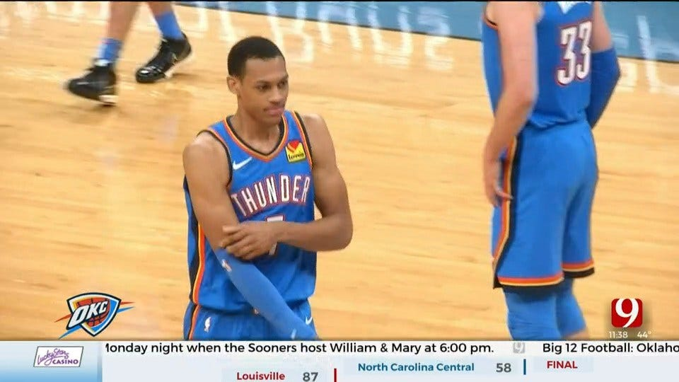 Thunder Reporter Steve McGehee Catches Up With Thunder Rookie Darius Bazley