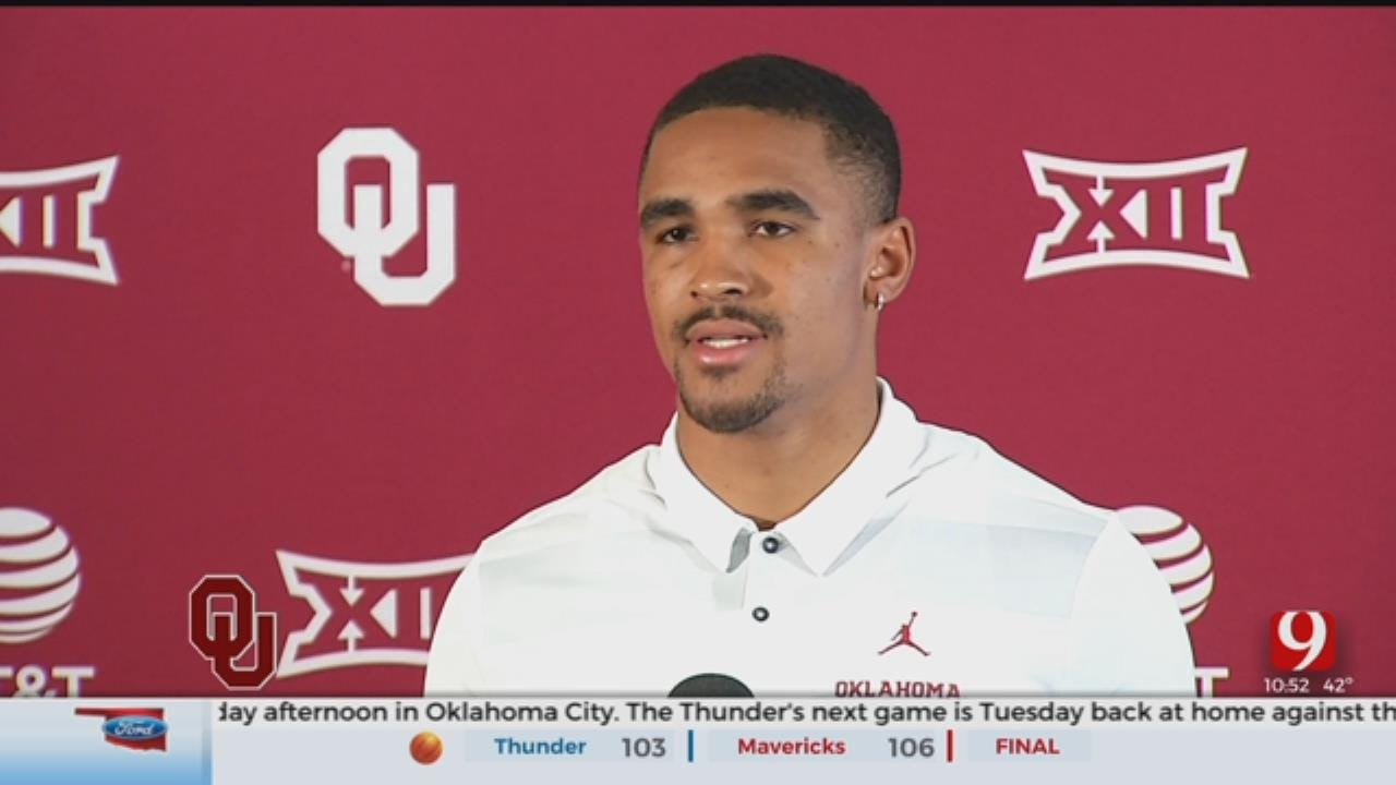 OU Spring Football, Jalen Hurts Talks For The First Time