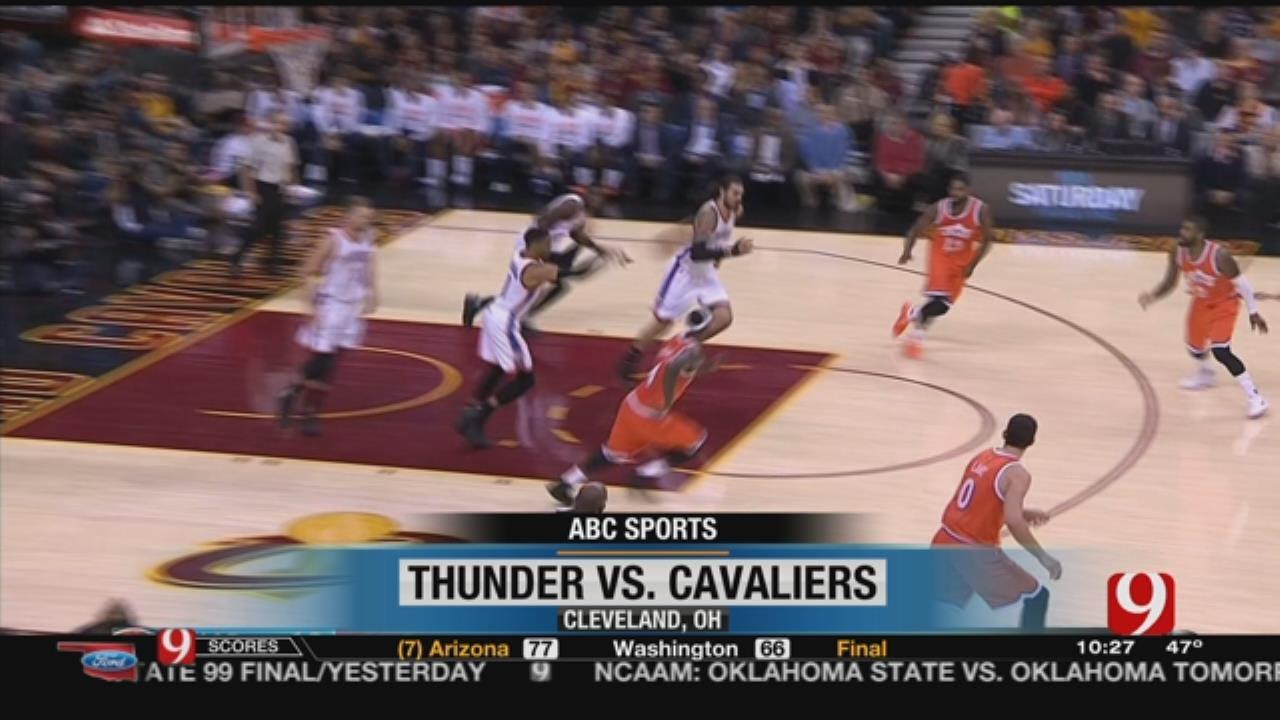 Cavs Drop Thunder, 107-91