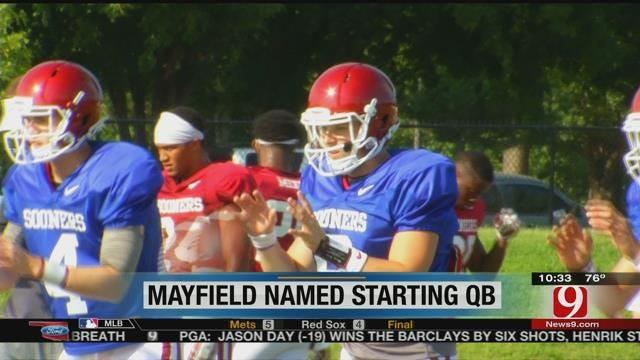 Baker Mayfield On Being Named Starting Quarterback