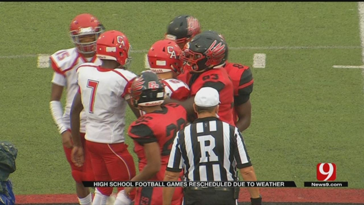 Oklahoma High School Football Games Rescheduled Due To Weather