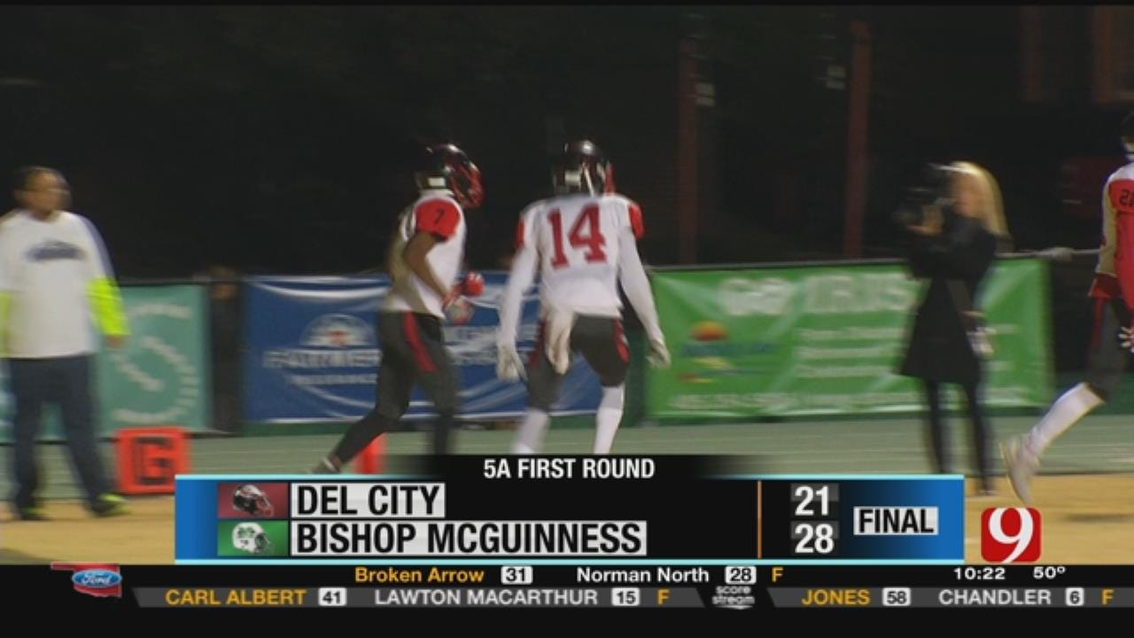 Del City 21 at Bishop McGuinness 28