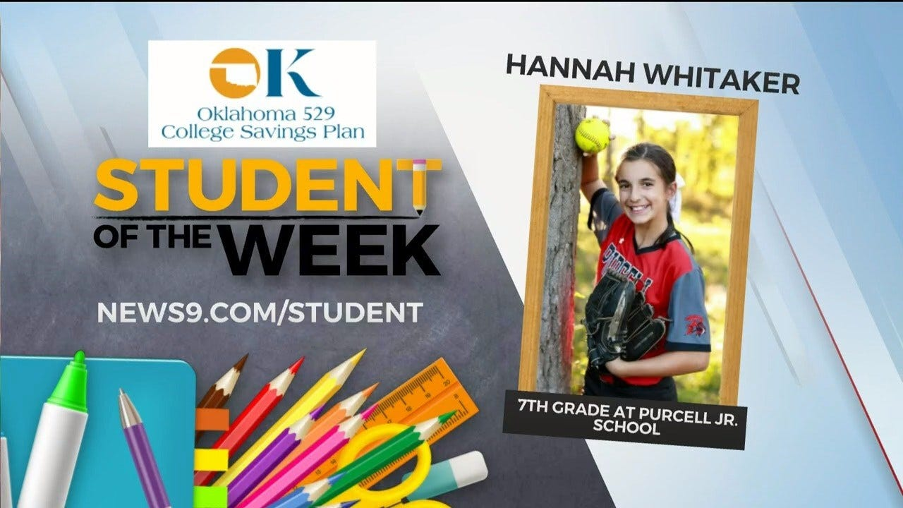 Student Of The Week: Hannah Whitaker, 7th Grader At Purcell Jr. School