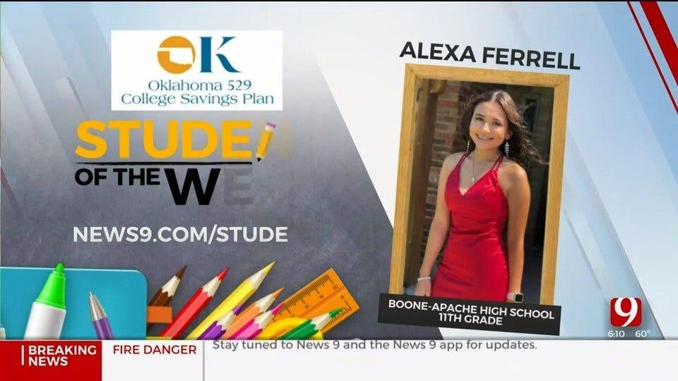 Student Of The Week: Alexa Ferrell, Boone-Apache High School
