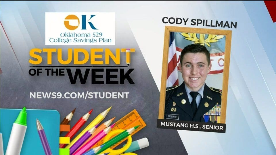 Student Of The Week: Cody Spillman, Mustang High School Senior