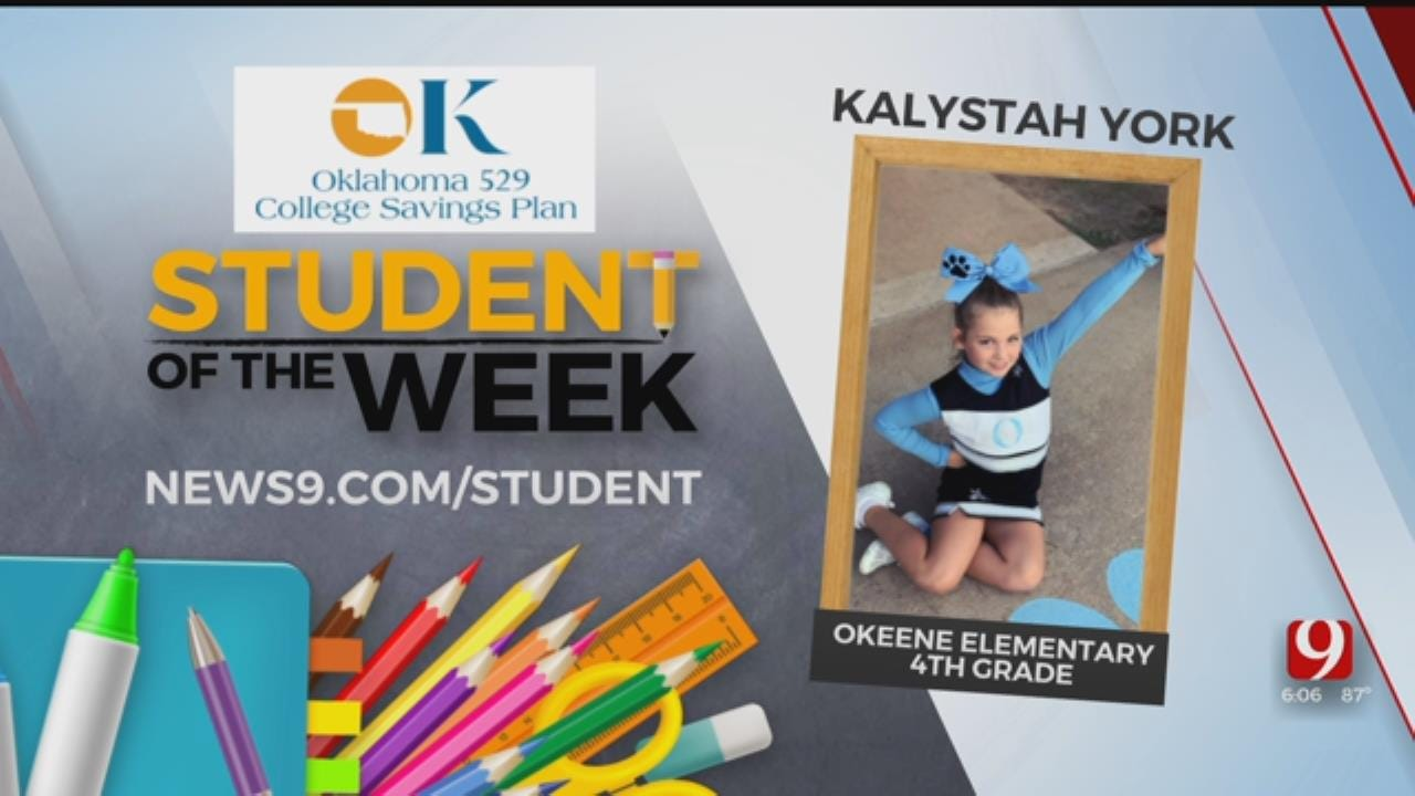 Student Of The Week: Kalystah York of Okeene Elementary
